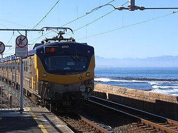Kalk Bay station, Cape Town, South Africa. A s...