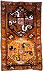 A Karabakh carpet of Malibayli sub-group. Malibayli village of Shusha, 1813. Source: IRS-Nasledie journal no 2-3(14-15), Moscow 2005, p. 97.