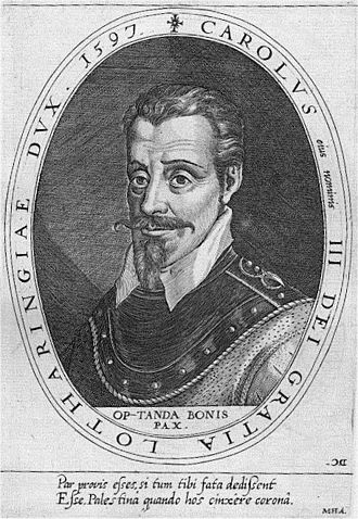 Charles III, Duke of Lorraine - Copper engraving by Dominicus Custos, 1600/02