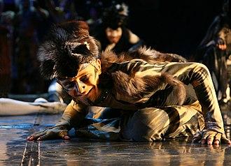 Rumpus Cat - Karol Tymiński as The Great Rumpus Cat in the Polish production of Cats, 2007.