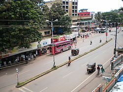 A bird's eye view of kasaragod town
