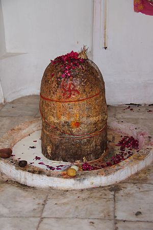 Lingam - A lingam with a swastika at the Katas Raj Temples in northern Pakistan.
