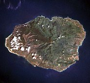 Kauai from space oriented