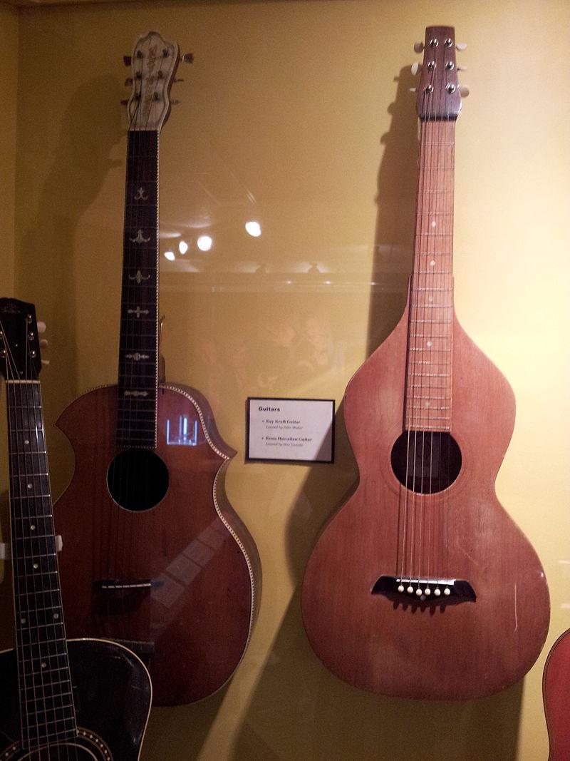 Kay Kraft guitar %26 Kona Hawaiian guitar (1920s), Museum of Making Music.jpg