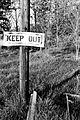 Keep Out Pole.JPG