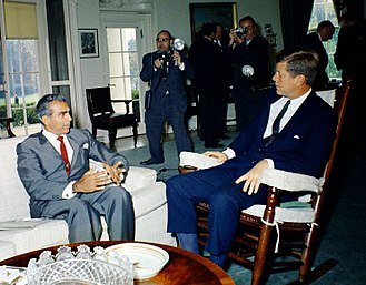 Foreign interventions by the United States - President John F. Kennedy meeting with Cheddi Jagan in October 1961. The trip was a political disaster for Jagan, who failed to sooth the suspicions of Kennedy and Congress by equivocating on Cold War issues.