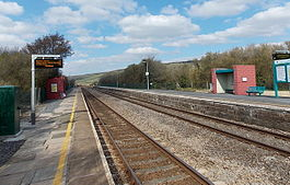 Kidwelly railway station viewed from platform 2 - geograph.org.uk - 3394748.jpg