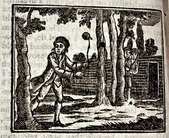 John Marshall (publisher) - An illustration from a Marshall publication, Memoirs of a Peg-Top by Mary Ann Kilner, showing the imminent destruction of the top