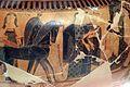 Kleitias, decorazione del vaso françois, 570 ac ca., nozze di peleo e teti, 04.jpg