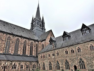 Haina - Image: Klosterkirche Haina vom Innenhof
