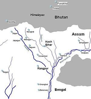 Koch dynasty - Historical map of Cooch Behar