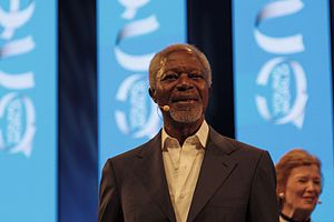 Kofi Annan Foundation - Kofi Annan at the 2014 One Young World Conference