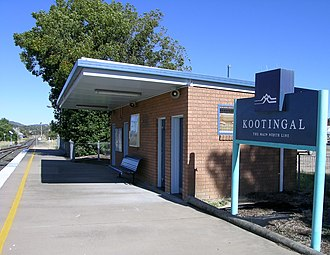 Kootingal railway station - Kootingal station in 2008