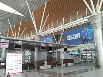 Kota Kinabalu International Airport - Check-in counters, Terminal 1