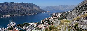 Kotor and Boka kotorska - view from city wall