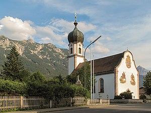 Krün - Image: Krün, Sankt Sebastian Kirche D 1 80 122 1 foto 4 2012 08 15 17.47