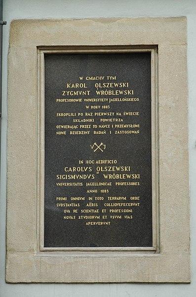 File:Krakow Olszewski Wroblewski plaque.jpg