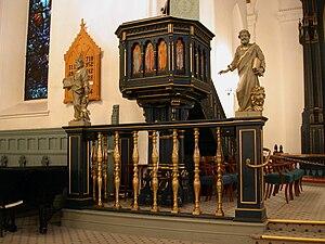 Kristiansand Cathedral - Image: Kristiansand domkyrkje preikestol
