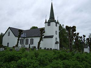 Austre Moland - View of the church in Austre Moland