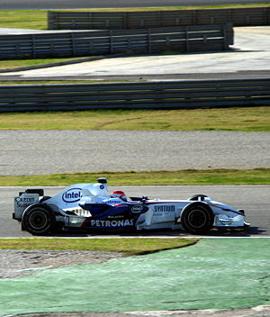 BMW Sauber F1.08 - Robert Kubica driving the F1.08 at the Early 2008 Testing at Valencia, 01-23-2008.