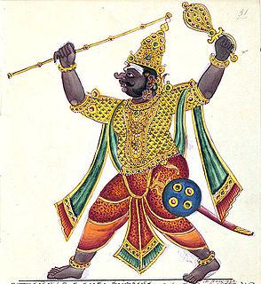 Kumbhakarna Younger brother of Ravana in the Ramayana