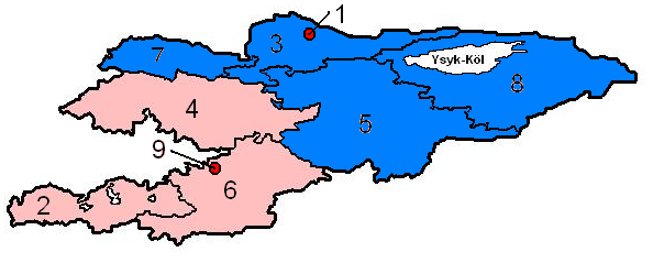 Kyrgyzstan regions