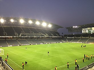 Banc of California Stadium - The east side stands on Figueroa Street