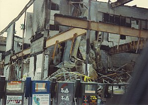 1992 Los Angeles riots - Burned buildings in Los Angeles