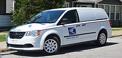 Usps Operated Minivan Dodge Caravan Cargo Serving In The Llv S Role