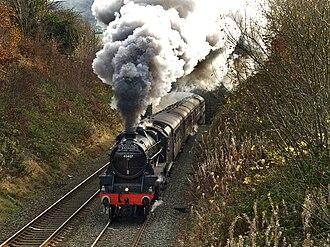 LMS Stanier Class 5 4-6-0 5407 - Image: LMS Stanier Class 5 4 6 0 45407 locomotive