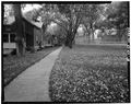 LOWER BRICK COURT, LOOKING SOUTH FROM BETWEEN BUILDINGS -117 AND 119. - Fort Riley, Riley, Riley County, KS HABS KANS,81-FORIL,2-18.tif