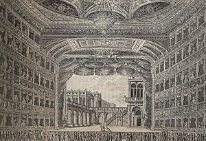La Fenice - Interior of first theatre, 1829