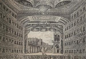 La Fenice - Interior of first theatre, 1829