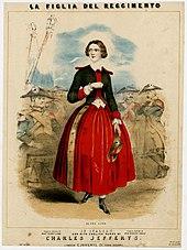 Jenny Lind als Marie in La Figlia del Reggimento (Quelle: Wikimedia)