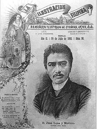 La Ilustración Filipina - July 28, 1892 cover of La Ilustración Filipina