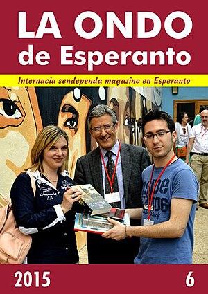 La Ondo de Esperanto - Cover page of the 6th issue of 2015