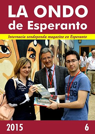 La Ondo de Esperanto - Cover page of the 6th issue of 2015