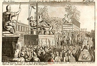 Reign of Terror - The execution of the Girondins