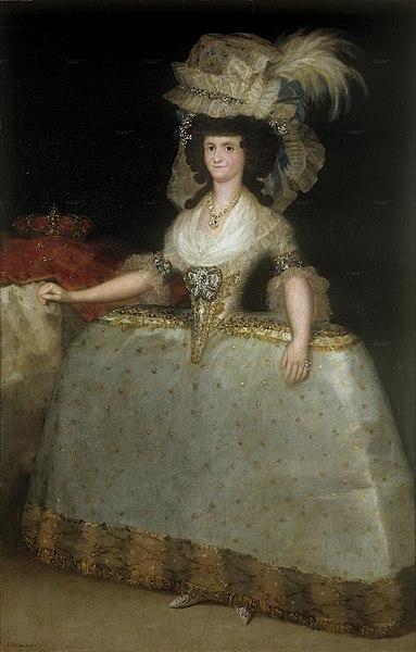 File:La reina María Luisa con tontillo.jpg