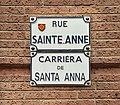 La rue Sainte-Anne (Toulouse) - Plaques.jpg