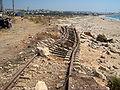 La voie emportée par la mer à Saïda.JPG