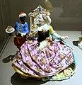 Lady with servant, Johann Joachim Kaendler, Meissen Porcelain Factory, c. 1737, hard-paste porcelain - Wadsworth Atheneum - Hartford, CT - DSC05214.jpg