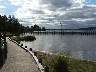"""Lake Narracan Dam in Gippsland, Victoria (near Newborough)""""`UNIQ--ref-00000001-QINU`"""""""
