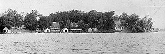 Lake James (Indiana) - Spring Point on Lake James circa 1920