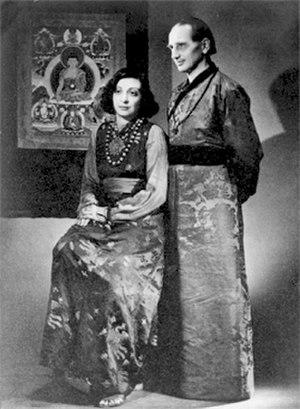 Li Gotami Govinda - Govinda and Li Gotami after their wedding in 1947.