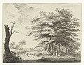 Landschap met boerderij en figuren onder bomen, RP-P-1909-2709.jpg