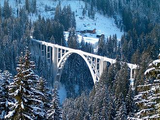 Langwieser Viaduct - Image: Langwieserviadukt 5