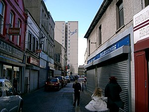 Larne Looking west along Dunluce Street.