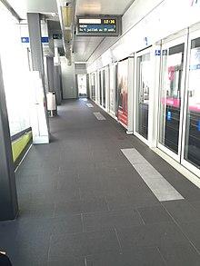 Platform Screen Doors At Lausanne Métrou0027s Délices Station.