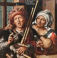 Le joueur de cornemuse et la vieille (Gemäldegalerie, Berlin) (11470595844).jpg